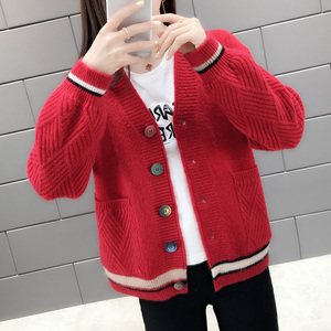 Very Fairy Early Autumn Ms. Sweater Cardigan Women Outside Fall 2019 New Student Women's Knit Jackets Spring and Autumn Tide