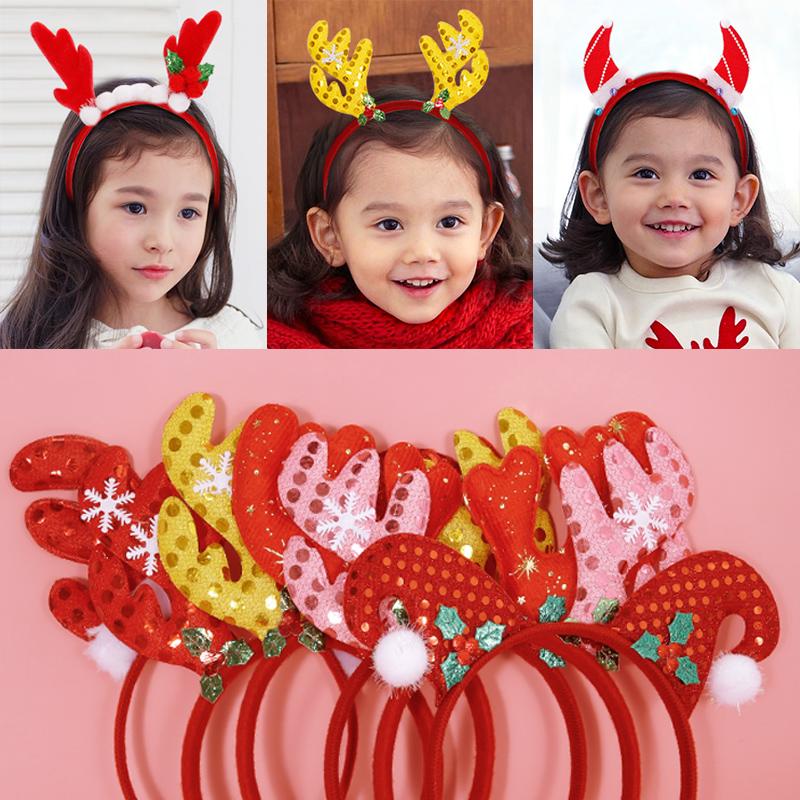 朝气童年 儿童发饰发箍宝宝圣诞节礼物头饰女童公主头箍发卡夹子