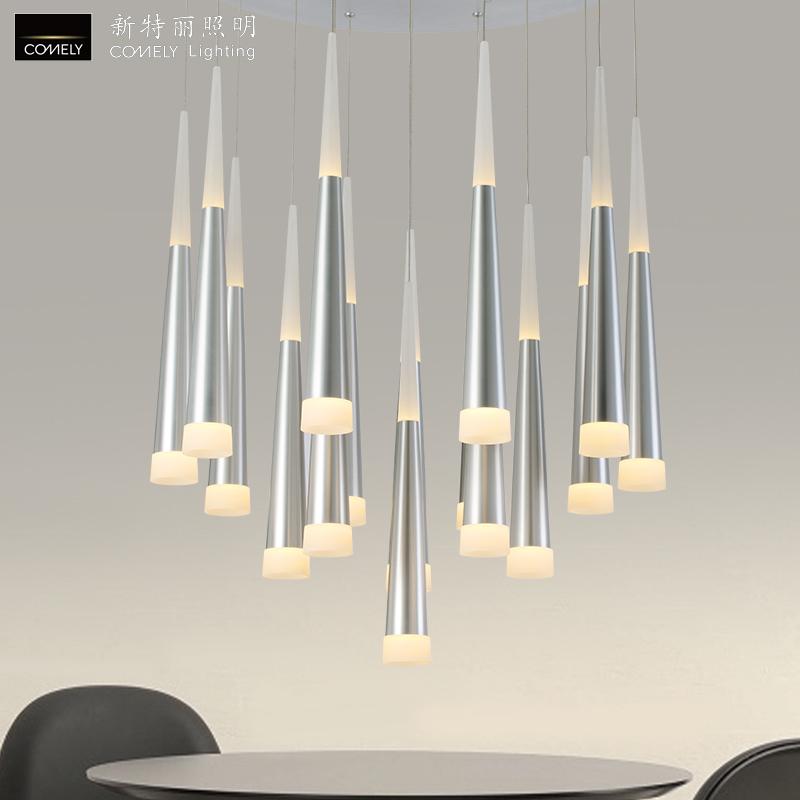 新特丽LED吊灯客厅灯饰书房灯具简约时尚现代节能护眼灯银河系列