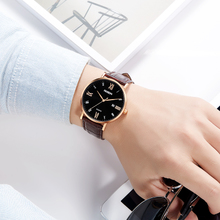 Authentic simple belt men's form calendar simple leisure watch fashion trend watch men's quartz watch