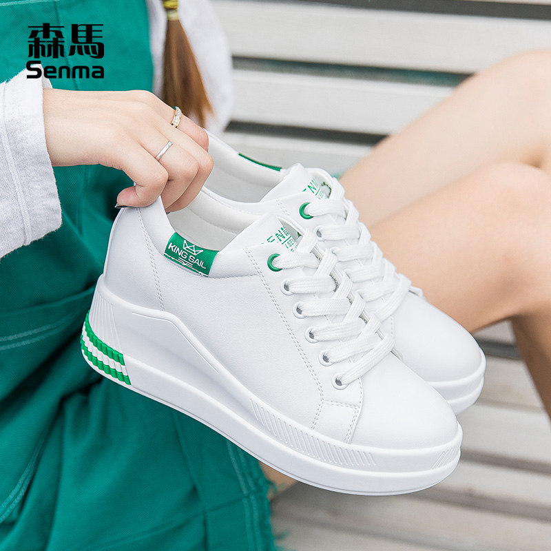 森马内增高女鞋2019新款百搭夏季厚底松糕运动鞋休闲小白鞋女板鞋