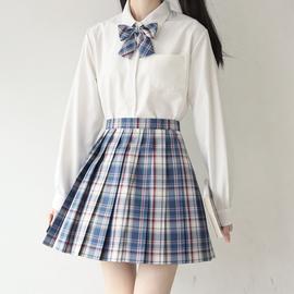 【刺篇】jk制服日系长袖角襟丸襟衬衫 基础款黑白尖领圆领衬衫 女