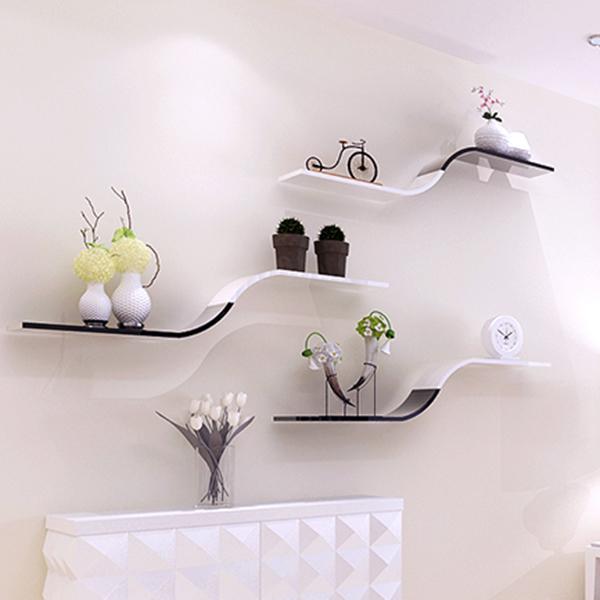 墙上隔板置物架卧室电视背景墙架子壁挂架墙面房间装饰置物架简约