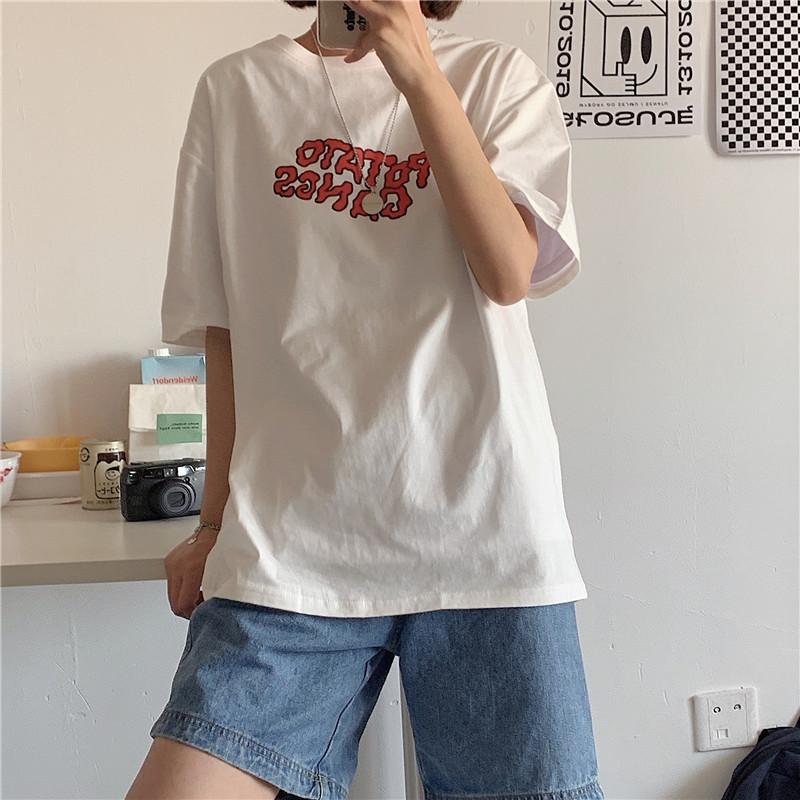 【实拍】100%纯棉 345 短袖宽松t恤 -