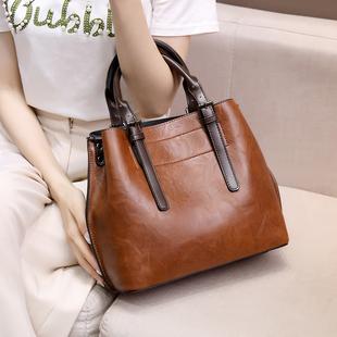 手提包女2020新款气质大包真皮牛皮复古包袋单肩斜挎包时尚大容量图片