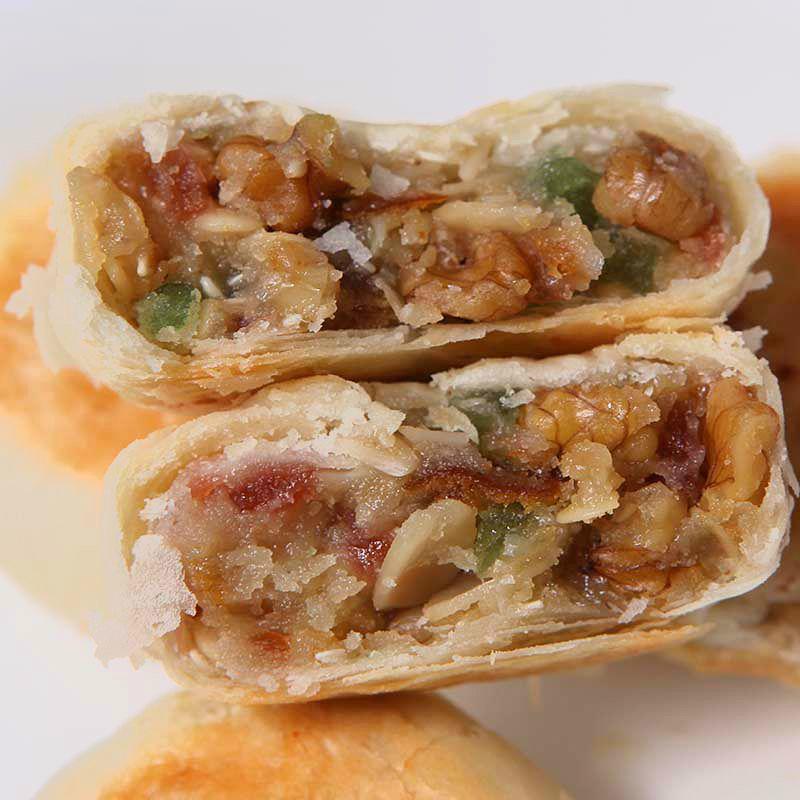 宁酥文低糖传统手工中秋苏式百果月饼散装多口味五仁酥皮5只糕点