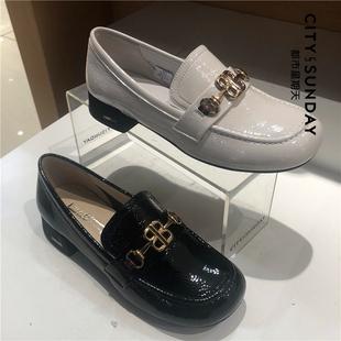 都市星期天2019春新款超纤漆皮/皮里/皮垫女单鞋(C25SALF00010)