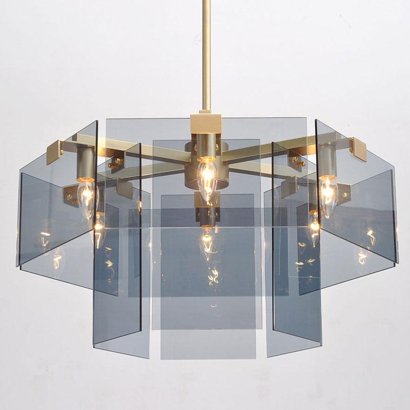 后现代家用客厅大吊灯金色轻奢北欧现代简约卧室餐厅吊灯玻璃灯具-威奢漫灯饰