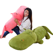 Cute Hippo doll pillow plush toy large cartoon Hippo doll cushion birthday gift girl