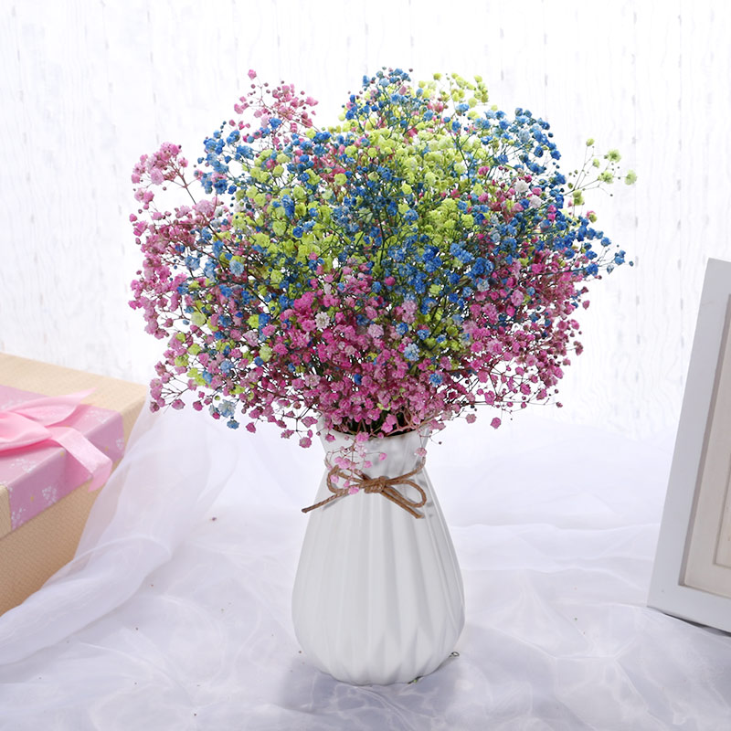 满天星干花永生花干花花束摆件家居摆设花瓶小清新客厅装饰花束