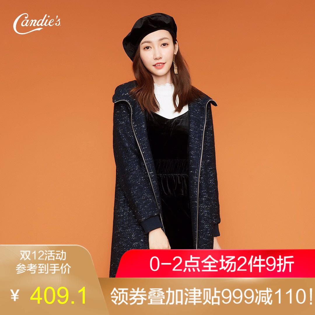 中长款大衣女2018冬季新款长袖休闲保暖显瘦宽松