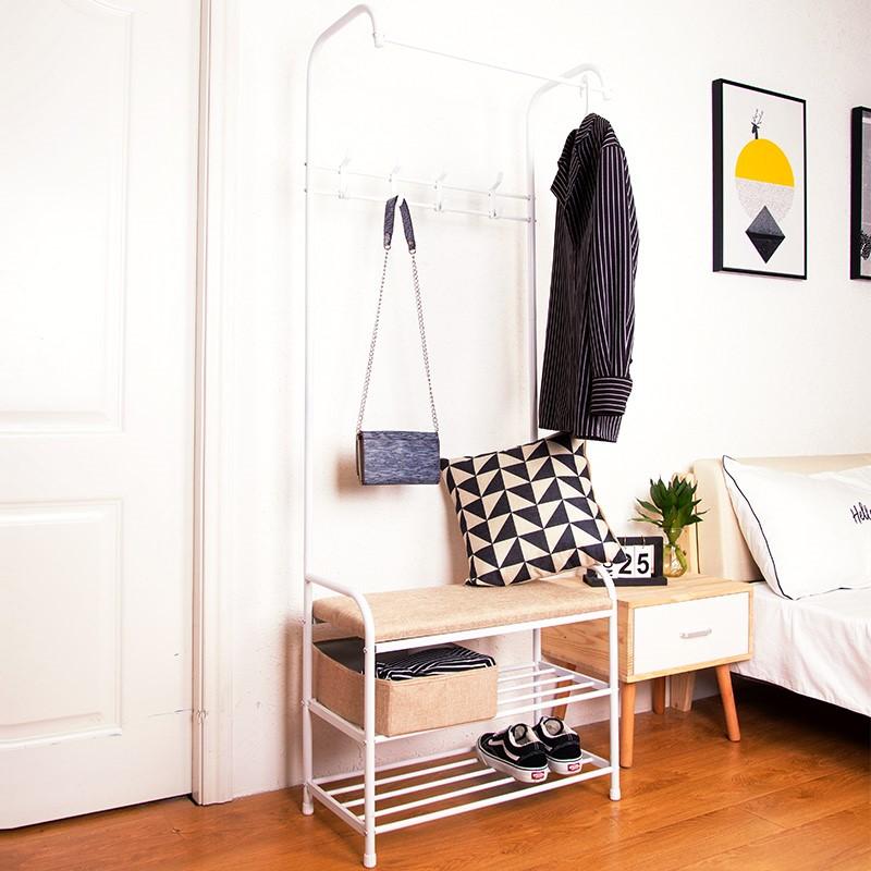 锦盛家用衣帽架单杆置物架衣架落地式晒卧室室内现代简约挂卧室子
