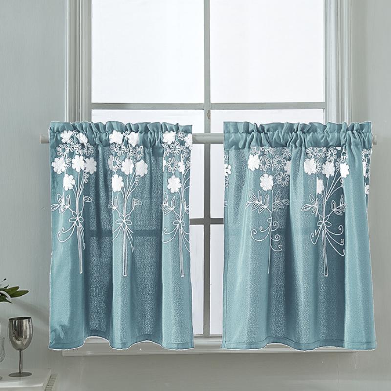小窗帘短窗迷你短款装饰帘卧室短帘半帘遮光小窗户帘布橱柜遮挡布