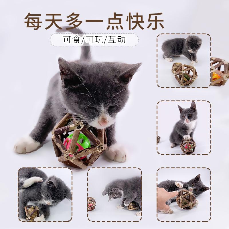 猫咪玩具薄荷球木天蓼猫草猫零食逗猫棒磨牙棒玲珑球自嗨毛球薄荷