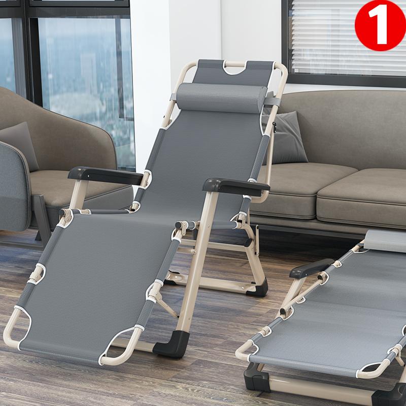 躺椅折叠午休睡便携沙滩季夏天凉爽家用休闲靠背懒人沙发折叠椅子
