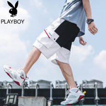 Playboy's Summer Slim Men's Leisure Clothing Shorts Men's Sports Loose Beach Pentacle Trend Trousers