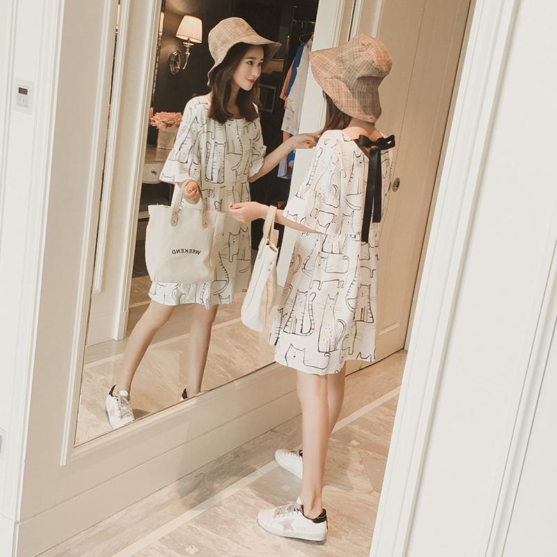 夏季连衣裙女2018新款宽松矮个子冷淡风复古显瘦心机a字裙娃娃裙