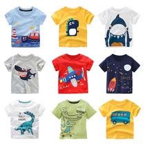 夏季新款男童短袖T恤儿童宝宝纯棉上衣舒适打底衫中小童宽松半袖