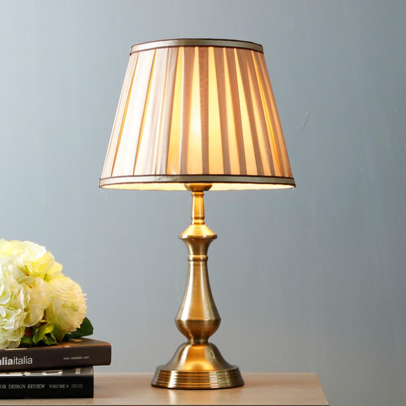 美式台灯卧室床头柜灯客厅温馨床头灯创意浪漫家用可调光触摸台灯-御天旗舰店