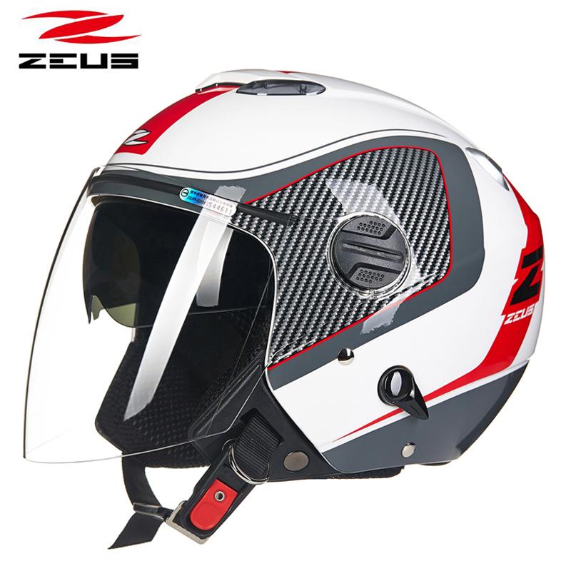 点击查看商品:台湾ZEUS瑞狮头盔男摩托车半覆式双镜片半盔女加大码四季通用夏季