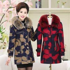 中老年女装秋装中长款毛呢外套50岁中年妈妈装冬装气质呢子大衣