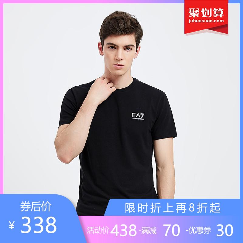 正品Emporio Armani/阿玛尼短袖t恤男印花新款纯棉EA7休闲体恤衫