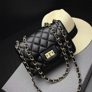 包包女包2019新款韩版小香风包时尚菱格链条包上新小包包斜挎单肩