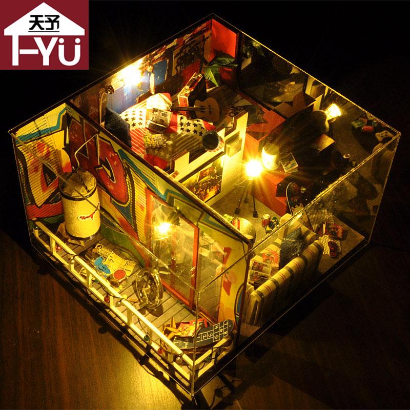 天予新品diy小屋别墅手工小房子模型拼装 创意生日礼物儿童玩具女