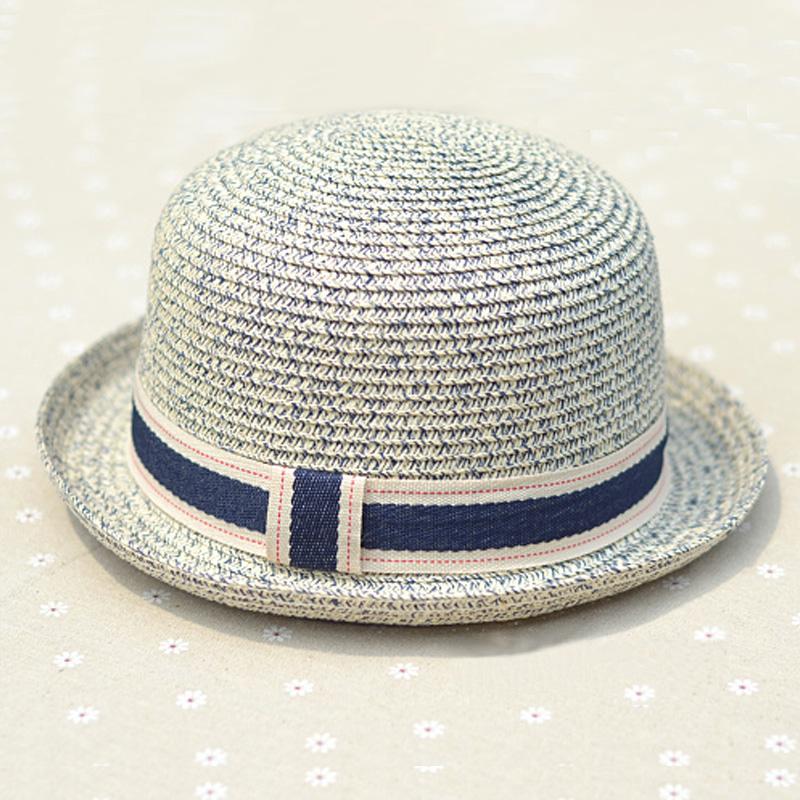 草帽女夏韩版潮夏天遮阳帽子卷边圆顶小礼帽沙滩防晒帽男士太阳帽