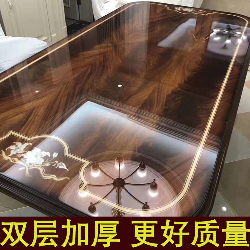 家具贴膜透明保护膜耐高温高档家居实木餐桌子茶几大理石桌面自粘