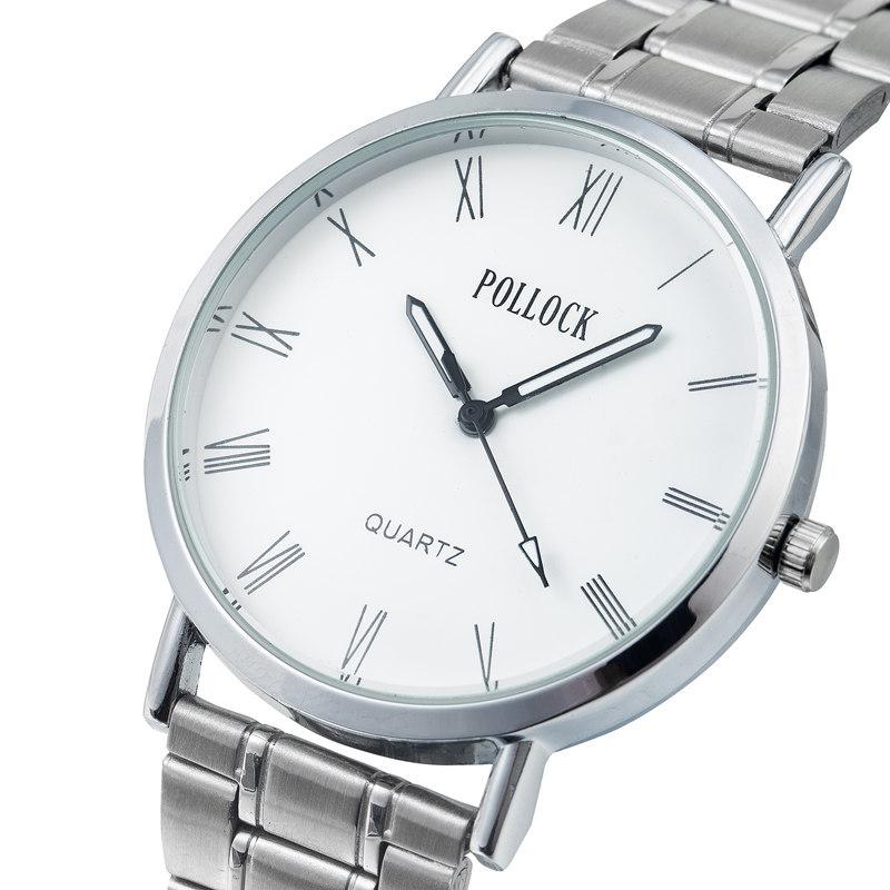 POLLOCK波洛克品牌钢带男女韩版学生流行款情侣商务手表