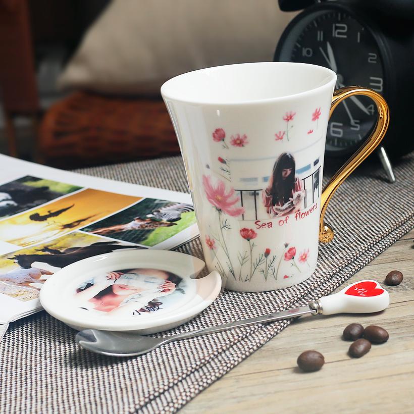 非变色杯创意个性diy制杯子 订制陶瓷马克杯 定做照片情侣水杯