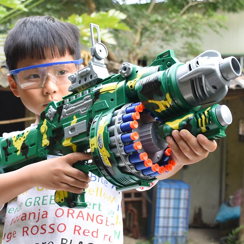 儿童电动连发玩具枪软弹枪男童子弹狙击抢手枪男孩子吸盘4-56岁7
