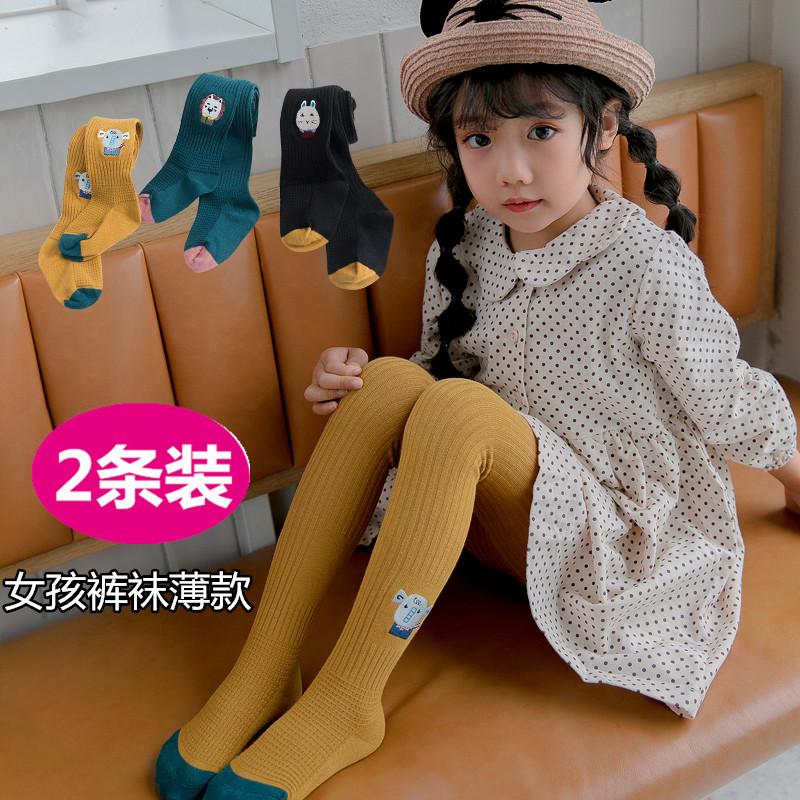 4儿童3女童5小女孩裤袜春秋薄女宝宝外穿2连脚打底裤9岁婴儿丝袜6