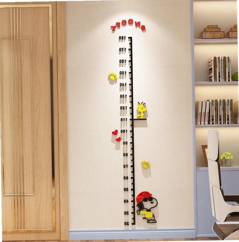 卡通身高贴3d立体亚克力儿童房幼儿园墙壁装饰贴画宝宝身高墙贴纸满5元减1元