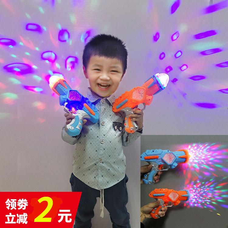 彩色发光投影儿童电动玩具**手**声光带音乐激光**3-6岁男孩宝宝