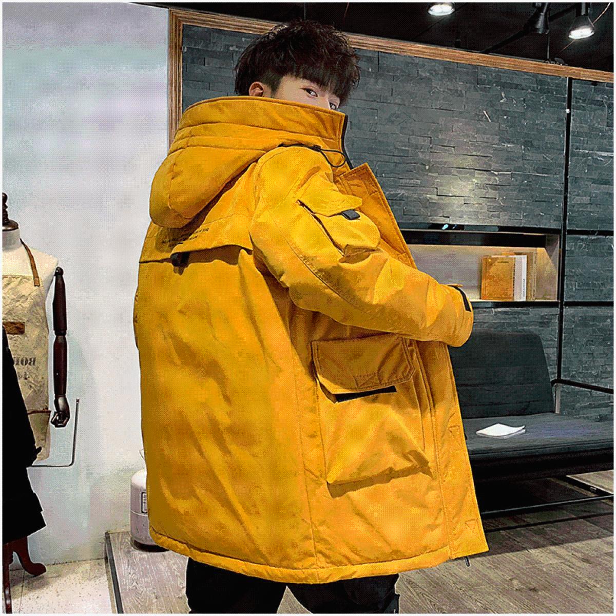 香港羽绒服男2019新款冬季加厚中长款外套潮流帅气韩版修身冬装男