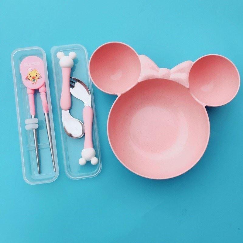 宝宝学吃饭用的儿童筷子小孩勺子幼儿喂水套装婴儿训练碗汤勺碗。