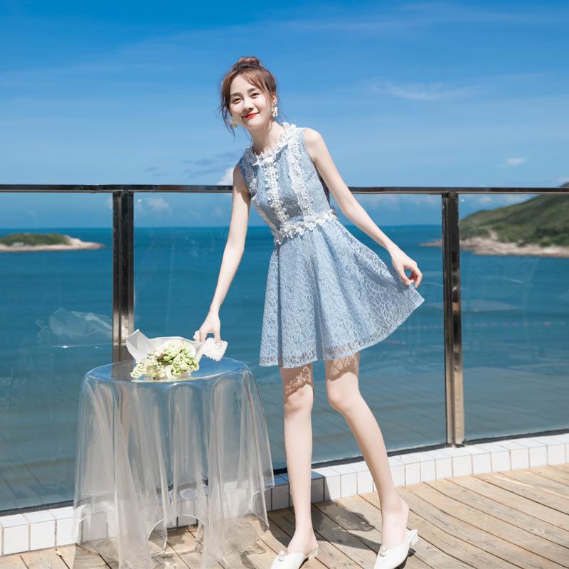 气质蕾丝裙小个子甜美显高短裙