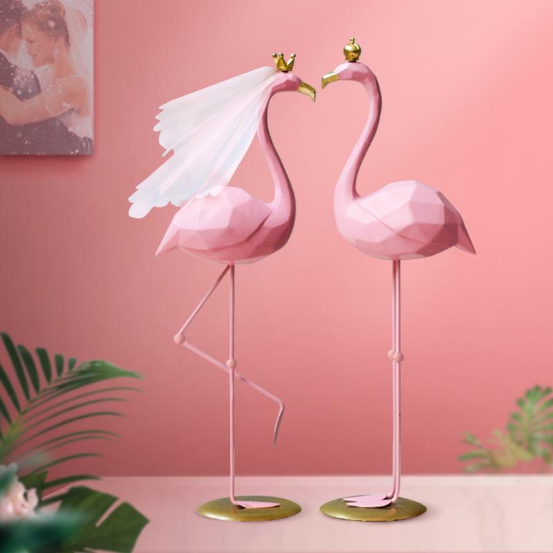 火烈鸟摆件结婚礼物女实用闺蜜订婚新婚高档一对送新人朋友姐姐
