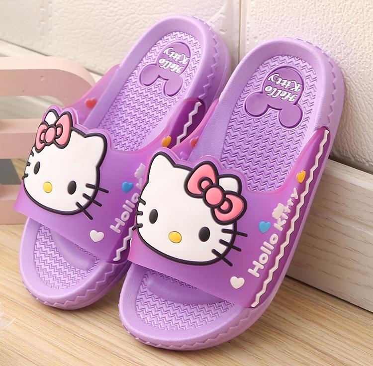 HolleKitty儿童拖鞋女夏季软底防滑可爱卡通洗澡女孩公主凉拖鞋女