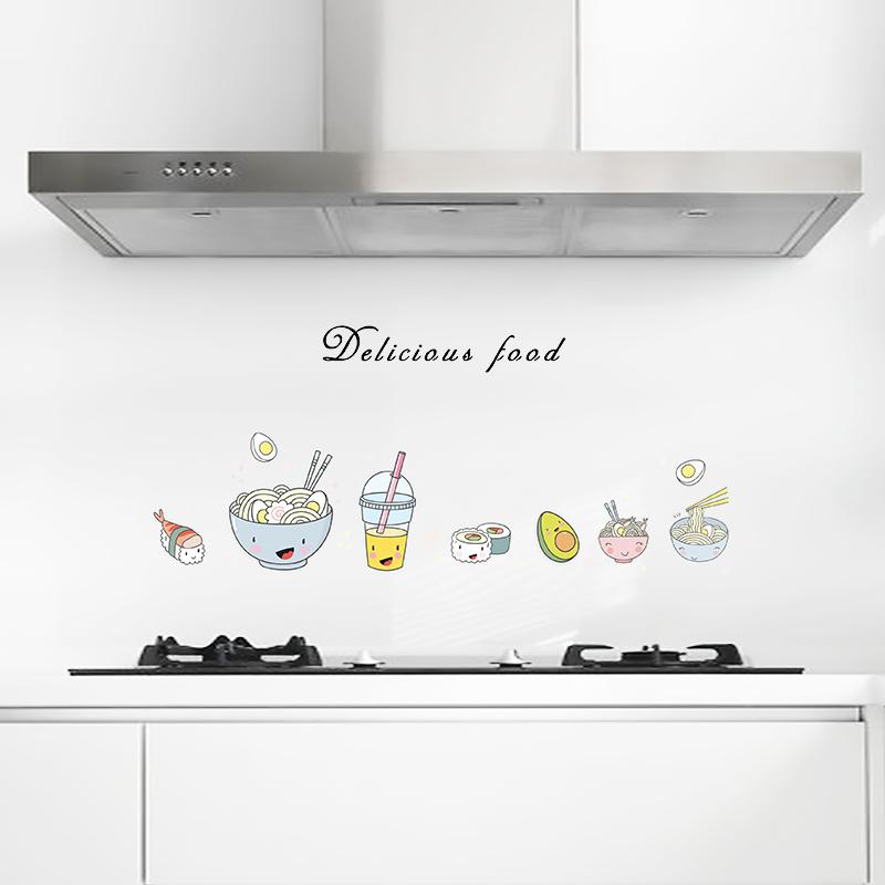 家用厨房装饰防油烟墙纸瓷砖防水自粘耐高温加厚墙贴壁纸灶台贴纸