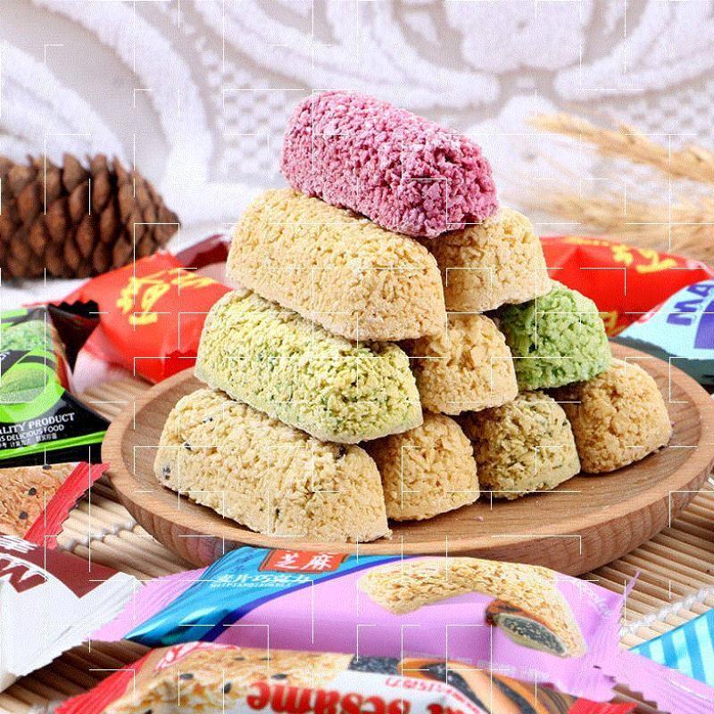 燕麦片巧克力棒牛奶喜糖酥糖果散装休闲小吃零食品好吃不贵的饼干