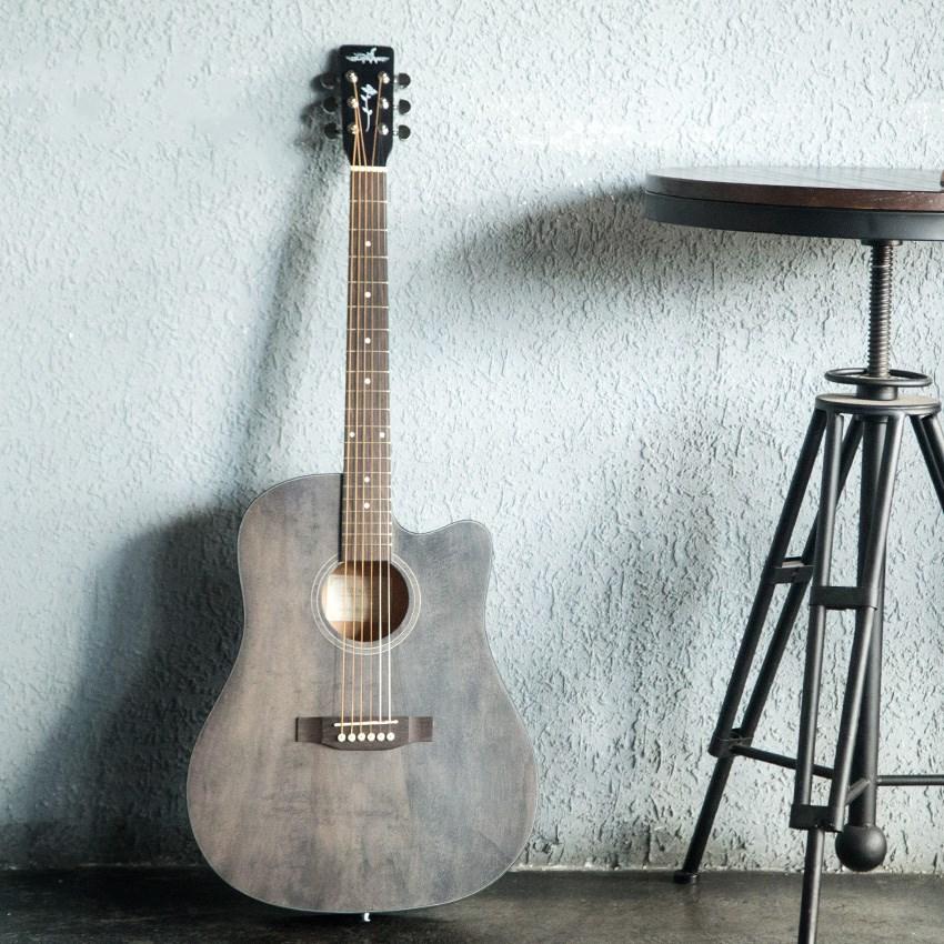 复古色民谣吉他41寸40寸黛青色初学者木吉他入门吉它学生男女乐器