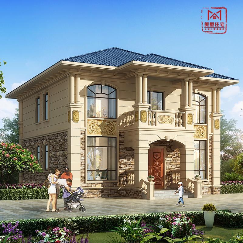 农村自建房别墅设计图纸二层豪华欧式房屋高端大气全套效果施工图