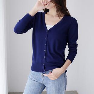 春秋季薄款针织衫开衫外套短款2020早秋新款韩版女士毛衣披肩外搭图片