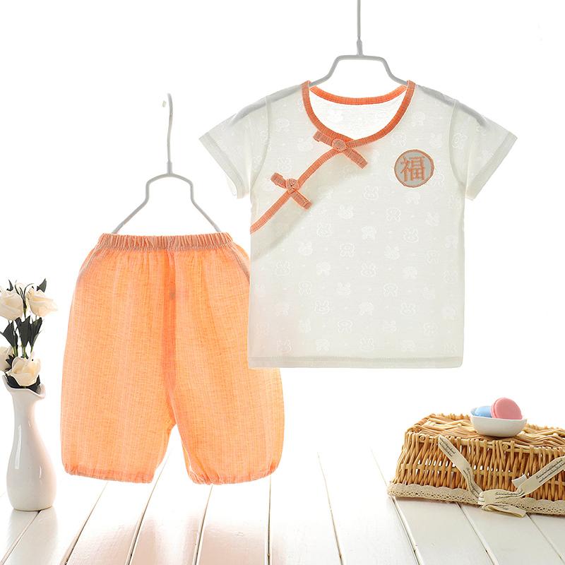 汉服儿童短袖套装1纯棉2婴儿夏装可爱3中国风男女宝宝小孩衣服4岁