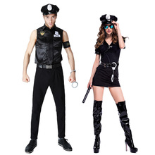 Policce Game Garment Police Garment Couples Costumes