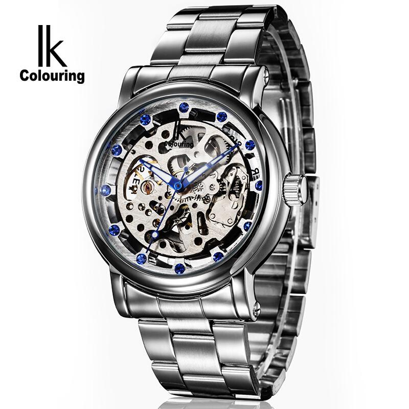 时尚流行女士腕表阿帕琦IK品牌手表全镂空自动机械表商务休闲镶钻