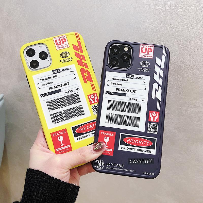 潮牌联名贴子标签适用于苹果11ProMax手机壳iPhoneX个性创意7plus网红iPhone11潮8plus硅胶套XR全包边保护套